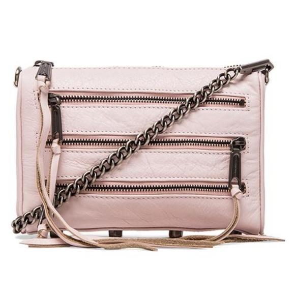 Rebecca Minkoff | mini 5 zip pale pink crossbody
